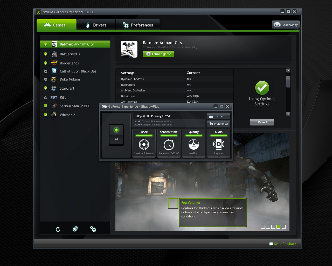 Nvidia Shadowplay is a great way to record your PC games